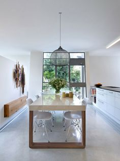 Lively Dining Area Contemporary Eco Friendly House With Asymmetric Shape