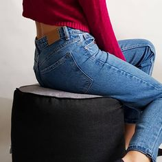 Each pouf consist of two elements. Choose your own pouf and filled with old textiles 🌿 Textiles, Jeans, Inspiration, Fashion, Biblical Inspiration, Moda, La Mode, Fasion, Fashion Models