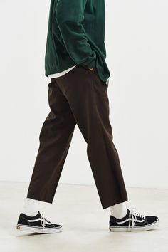 Dickies UO Exclusive Cutoff 874 Work Pant – Men's style, accessories, mens fashion trends 2020 Fashion 90s, Stylish Mens Fashion, Look Fashion, Fashion Outfits, Skate Fashion, Fashion Rings, Street Fashion, Fashion Shirts, Mens Grunge Fashion