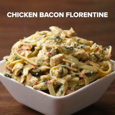 Chicken Bacon Florentine Fettuccine