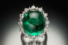 Extremely rare and valuable emerald in an Art Deco ring. Made by Cartier Paris, in 1925. The emerald weighs 18.62 carats and is surrounded by 5.02 carats of diamonds. The ring is worth $1,500,000 and was auctioned by Christie's on January 15, 2014
