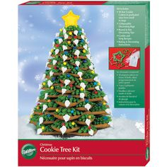Create a beautiful Yule tree as a perfect holiday centerpiece – it's easy and fun! Just bake, stack and decorate with Wilton's Christmas Cookie Tree Kit.