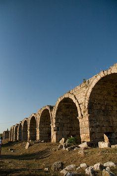 Roman Aquaduct - Perge, east of Antayla, Turkey.  A easy day trip from Antalya and well worth the visit with a wonderful intact stadium at the site
