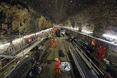 Crossrail workers strengthen,