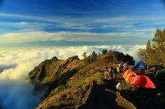 Rinjani Mountain National Park and Segara Anak Lake, Lombok Island, Indonesia