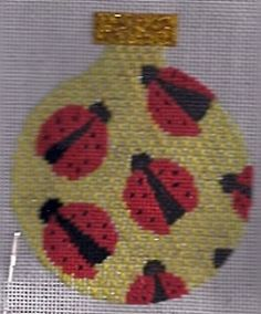 high cotton thread for needlepoint on Jody Designs ornament