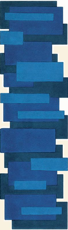 modernrugs.com abstract odd shaped blue modern rug