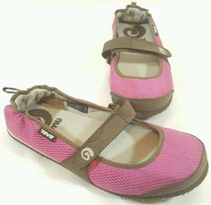 Womens Teva Pink Brown Mush Mesh #4329 Mary Jane Style Shoes Sz 8 #Teva…