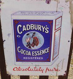 Old Metal advertising sign - Cadbury's
