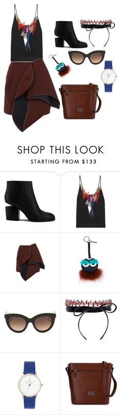 """""""Untitled #17"""" by najwaguru ❤ liked on Polyvore featuring Alexander Wang, Christopher Kane, Gyunel, Fendi, Victoria Beckham, Fallon and Picard"""