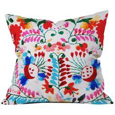 DENY Designs Deb Haugen Mexican Surf Trip Indoor/Outdoor Throw Pillow
