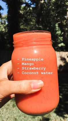 a perfect summer smoothie! - Essen - a perfect summer smoothie! The Effective Pictures We Offer You About detox cleanse A quality pictu - Easy Smoothie Recipes, Easy Smoothies, Snack Recipes, Vegetable Smoothies, Oatmeal Smoothies, Blender Recipes, Jelly Recipes, Canning Recipes, Milk Smoothies