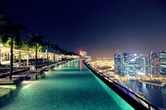 One of the most amazing places I have ever been.  Pool at Marina Bay Sands in Singapore!