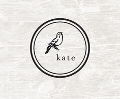 Custom Rubber Stamp, Custom Name, Self Inking Rubber Stamp, Ideal Stamp, Pre Inked, Bird, Personalized Gift, Label, Round