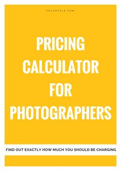 Find out exactly how much you should be charging per photo session to run a successful photography business.