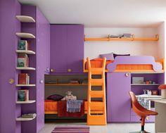Armario puente para cama infantil (niña) IDEA 12 Klou xl by Battistella