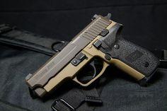 Sig Sauer P229 FDE and Patriot Brown Cerakote Find our speedloader now! http://www.amazon.com/shops/raeind