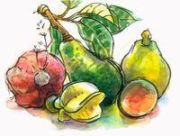 Avocado, Kumara, Papaya, Carambola, and Passionfruit Fruits And Veggies, Vegetables, Cook Islands, Eggplant, Avocado, Art, Fruits And Vegetables, Art Background, Lawyer