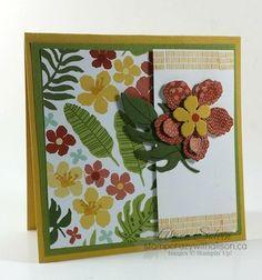 Botanical blooms stamp set, botanical builder framelits dies, botanical gardens designer series paper