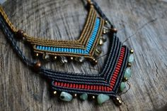 Hey, I found this really awesome Etsy listing at https://www.etsy.com/listing/489709004/macrame-necklace-with-brass-beads-and