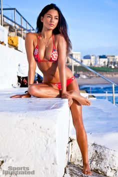 Jessica Gomes - Sports Illustrated Swimsuit 2012 Location: Sydney, New South Wales, Australia, Shangri-La Hotel Swimsuit: Swimsuit by Beach Bunny Swimwear Photographed by: Walter Iooss Jr.