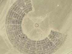 Aerial photograph of Burning Man - Black Rock City