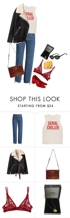 """""""Serial chiller 2"""" by upinflaaames ❤ liked on Polyvore featuring Vetements, Maryam Nassir Zadeh, Acne Studios, Jean-Paul Gaultier, Calvin Klein Underwear, Chanel and Elizabeth and James"""
