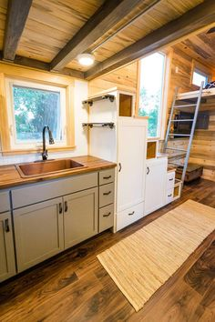 Kitchen Storage - Curtis & April's Tiny House by Mitchcraft Tiny Homes