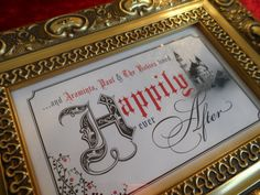 FRAME PERSONALISED gift Happily Ever After by Beautificator