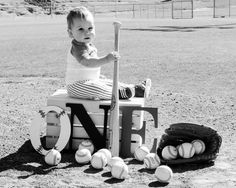 I often photograph the milestones of my children, but I always have help. I just have to say, its so much easier to photograph the children of my clients! Baseball First Birthday, Sports Birthday, Baby Boy 1st Birthday, First Birthday Parties, First Birthdays, 1st Birthday Pictures, Birthday Ideas, Sports Baseball, Baseball Party