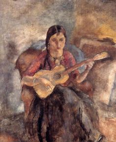 Gypsy with a Guitar by Jules Pascin