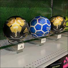 Pegboard-Mount Soccer Ring Hooks Retail Fixtures, Store Fixtures, Football Equipment, Soccer Store, Of Brand, Store Design, Soccer Ball, Hooks, Football Football