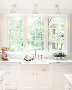 Kitchen Remodel Inspiration Light and Bright Kitchen Windows Farmhouse Sink