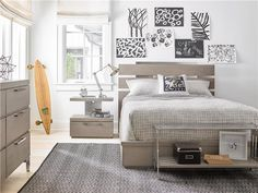 Shop the Brian Modern Classic Grey 2 Drawer Wood Nightstand and other Kids Storage Furniture at Kathy Kuo Home Kids Storage Furniture, Bedroom Furniture, Furniture Design, End Of Bed Bench, Bed End, Portable Bunk Beds, Dog Bunk Beds, Wood Nightstand, Panel Bed