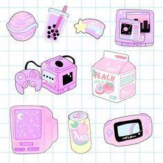 Lol i own these que es aesthetic, pink aesthetic, aesthetic anime, pastel art Manga Kawaii, Kawaii Art, Kawaii Stuff, Kawaii Stickers, Cute Stickers, Kawaii Drawings, Cute Drawings, Pink Aesthetic, Aesthetic Anime