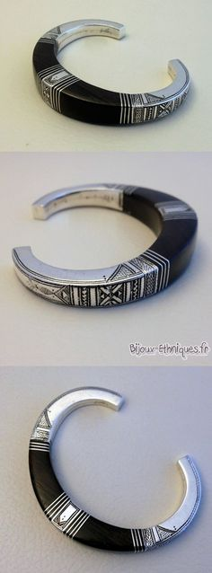 Contemporary Tuareg bracelet; silver and ebony wood | 149€ ~ sold