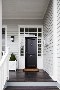 Grey Exterior Paint Colour Schemes Luxury Light Grey Siding White Trim Around Windows and Front Door Exterior Colonial, Café Exterior, Exterior Design, Craftsman Exterior, Traditional Exterior, Craftsman Bungalows, Craftsman Style, Exterior Paint Colors For House, Paint Colors For Home