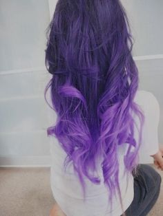 Purple curls, absolutely gorgeous.