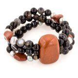 Save 62% on 3-Row Gemstone, Agate and Freshwater Pearl Stretch Bracelets http://bestdesignerwatchesformen.blogspot.com/