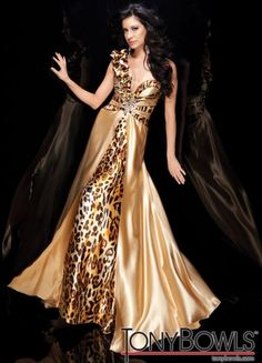 leopard evening gowns | Tony Bowls Evenings Animal Print Evening Dress TBE21114 image