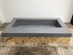 Polished concrete sink basin for utility bathroom bar restaurant made by concrete Tuesdays