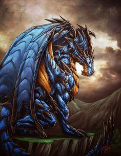 Azure Dragon by Chaos-Draco