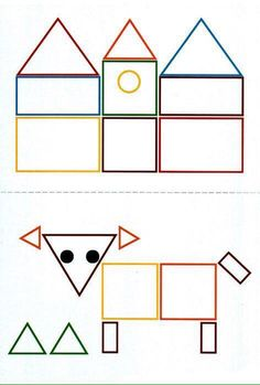 these will be great for the shapes unit in math tubs for pre k Physical Activities For Kids, Preschool Learning Activities, Math For Kids, Art Drawings For Kids, Drawing For Kids, Shape Games, Kindergarten Crafts, Shape Crafts, Math Resources
