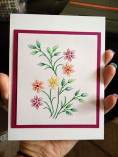 Embroidery Cards, Learn Embroidery, Hand Embroidery Patterns, Art Carte, Bordado Floral, Sewing Cards, String Art Patterns, Thread Art, Card Patterns