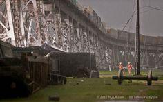 Huey P. Long Bridge cleanup begins after rail cars blown off tracks   NOLA.com
