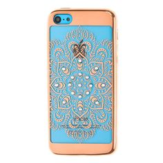 Gold Crystal Detail Mandala Phone Case - iPhone 5/5S