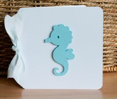 Thank You Notes Baby Shower Blue Seahorse by CardinalBoutique, $70.00