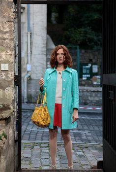 Pour construire le personnage de Chloé, Odile Vuillemin est allée chercher des tenues à Londres