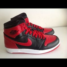 Air Jordan 1 The Return black red Brand new pair of Air Jordan 1 the return available in multiple sizes Nike Shoes Sneakers