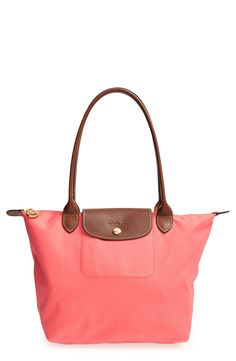 A pretty coral tote for spring.